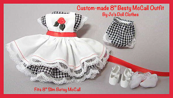 Tiny Betsy McCall Custom Black Gingham Outfit