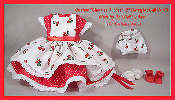 "Tiny Betsy McCall ""Cherries Jubilee"" Custom Outfit"