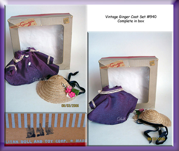 1955 Cosmopolitan Ginger Tagged Coat Set ORIGINAL BOX