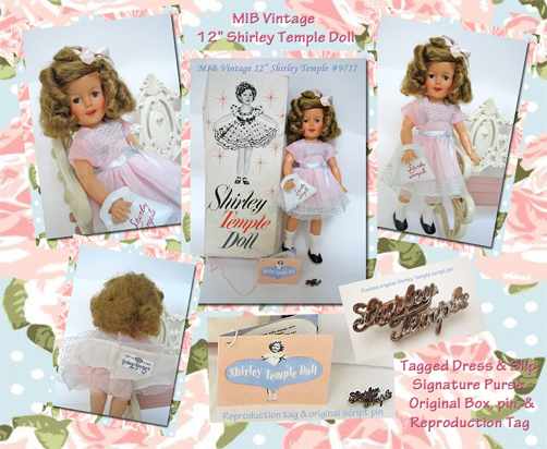 "MIB 12"" Vintage Ideal Shirley Temple 9717"