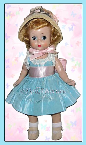 Vintage Madame Alexander-kins Aqua Taffeta