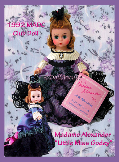 "RARE ""Little Miss Godey"" 1992 MADC Club Doll"