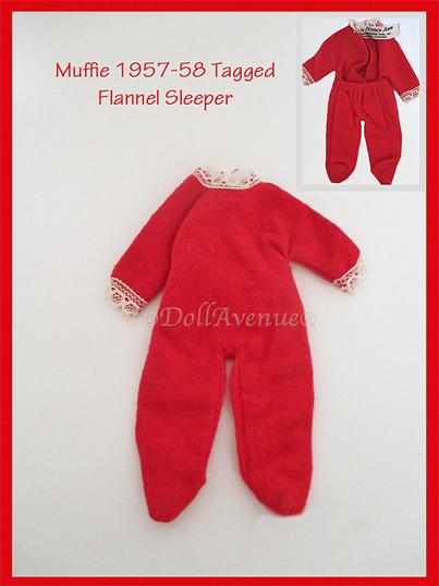 Vintage Muffie Flannel Sleeper PJs