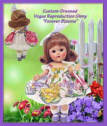 "Ginny Custom-Dressed ""Forever Blooms"""