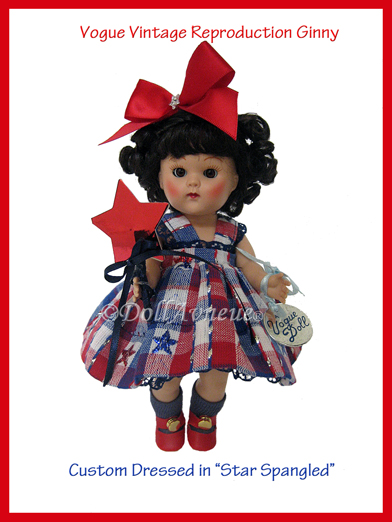 "Vintage Reproduction Ginny ""Star Spangled Ginny"""