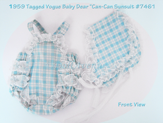"""RARE Vintage Ginny Baby """"Can-Can Suit"""""""